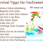 Survival Tipps für Hochsensible, Sylvia Harke, hsp academy, Storch mit Frosch im Schnabel