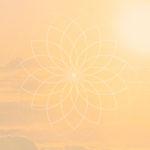 Wolkenhintergrund mit Mandala