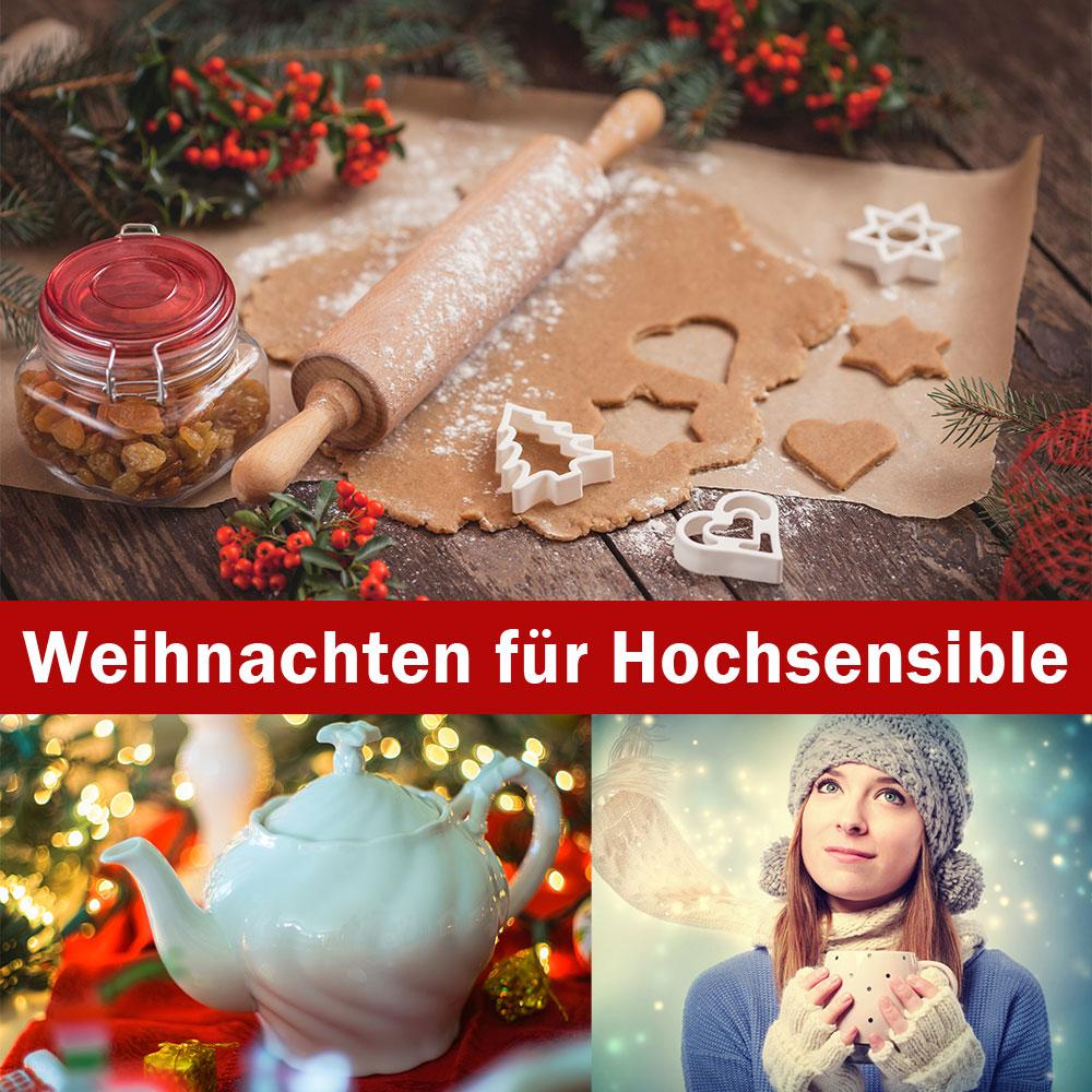 Weihnachten, hochsensibel, Adventszeit, Tee trinken, Plätzchen backen, Schnee, Frau, Winterschal